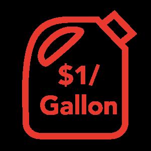 $1 per Gallon